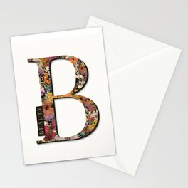 Floral monogram B - BEAUTY, Lo Lah Studio Stationery Cards