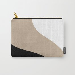 Simple Waves -Black & White Carry-All Pouch