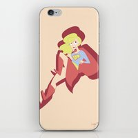 supergirl iPhone & iPod Skins featuring Supergirl by The Time Lord Twins