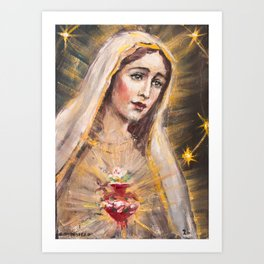 Immaculate Heart of Our Lady of Fatima Art Print