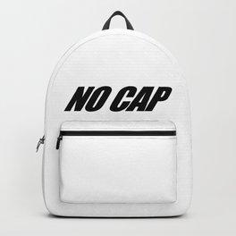 NO CAP Black Minimal Backpack