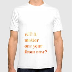 Will it Matter? White Mens Fitted Tee MEDIUM