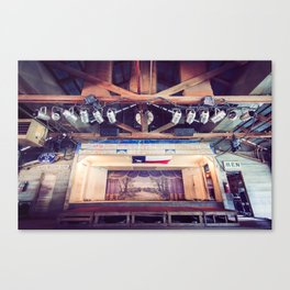 Gruene Hall stage (interior) - Oldest Dance Hall in Texas (Color) Canvas Print