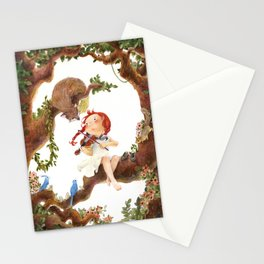 A girl playing violin Stationery Cards
