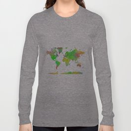 World Map 7 Long Sleeve T-shirt