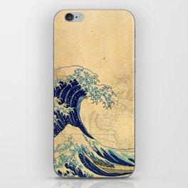 Hokusai parchment iPhone Skin