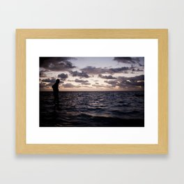 In the Water Framed Art Print