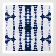 Boho Tie-Dye Knit Vertical Art Print