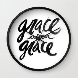 Grace upon Grace Wall Clock