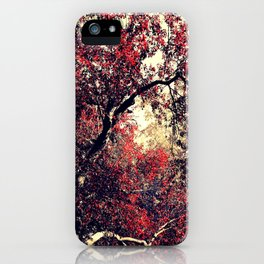 Red is the Tree that Grows iPhone Case