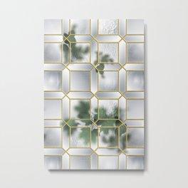 Art Deco Glass Partition Metal Print