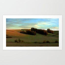 Last Moments of Sunset Glow, Sonoma County Hills Art Print
