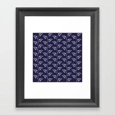 Blue & White Ferns Framed Art Print