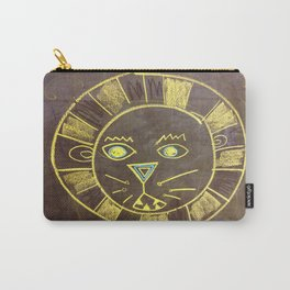 Chalkboard Lion Face Rawrr Carry-All Pouch