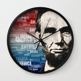 Patriot Abraham Lincoln Wall Clock