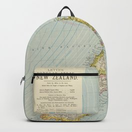 Vintage Map of New Zealand (1883) Backpack
