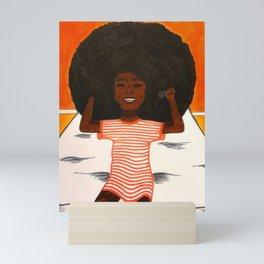 Afro Girl Mini Art Print