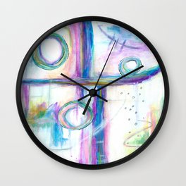 Just the Three of Us, Abstract Art Painting Wall Clock
