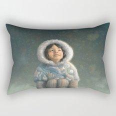Winter Girl Rectangular Pillow