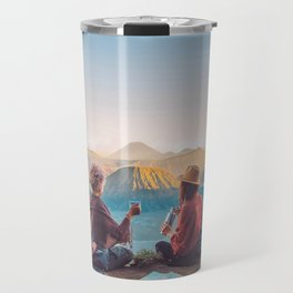Sunset over Mount Bromo Travel Mug