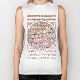 Flight of Color - Circle graphic Biker Tank
