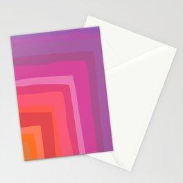 Vivid Vibrant Geometric Rainbow Stationery Cards
