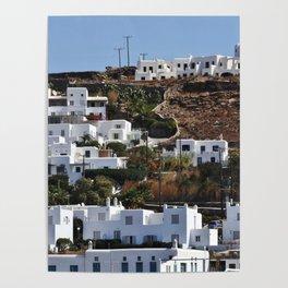 Mykonos Hillside Poster