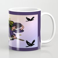 witch Mugs featuring Witch by Art-Motiva