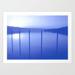 Lake in Blue Art Print