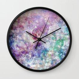 Rainbow Stars Space Galaxy Pattern Wall Clock