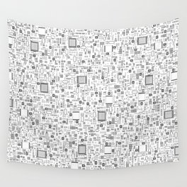 All Tech Line / Highly detailed computer circuit board pattern Wall Tapestry