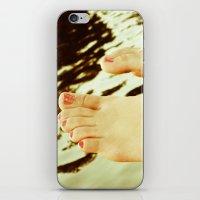 feet iPhone & iPod Skins featuring Feet by Upperleft Studios