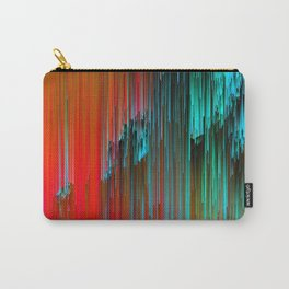 Nice Day for a Walk - Abstract Glitchy Pixel Art Carry-All Pouch