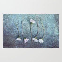Daisies in a row Rug