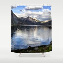 Medicine Lake - Jasper NP Shower Curtain