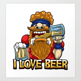 I Love Beer - Oktoberfest Lover - Brewery Brew Art Print