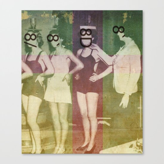 Figure Eight Deportment Canvas Print