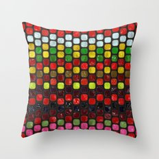 Tiles of Colors Throw Pillow