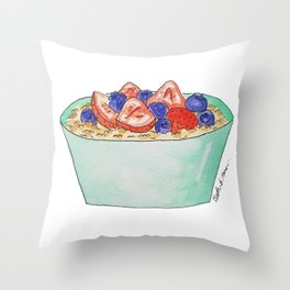 O is for Oatmeal Throw Pillow