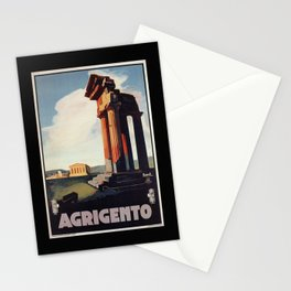 Vintage 1920s Agrigento Italian travel ad Stationery Cards