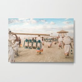 Lamplighters at Burning Man 2017 Metal Print