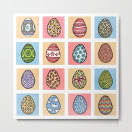 Decorated Easter Eggs  Metal Print