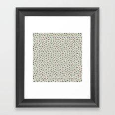 Summertime wallflowers pattern Framed Art Print