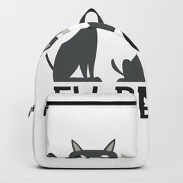 Cats saying Ihh people Backpack