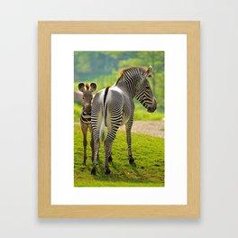 Mom and Son Framed Art Print