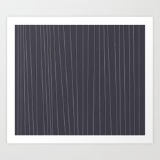 Grey and White stripe Art Print