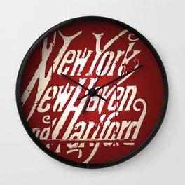 Railroad Museum Wall Clock