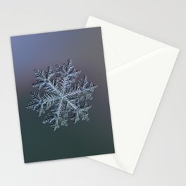 Real snowflake - Hyperion dark Stationery Cards