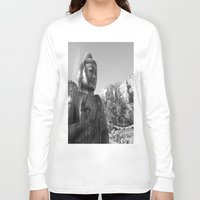 buddah Long Sleeve T-shirts featuring Buddah by Nicolette Hand