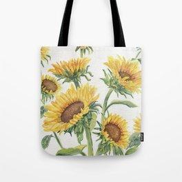 Blooming Sunflowers Tote Bag
